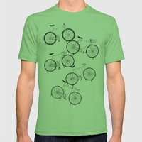 BIKES YO! Mens Fitted Tee Grass SMALL