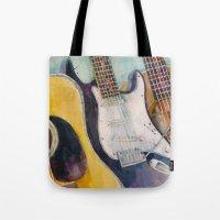 three guitars Tote Bag