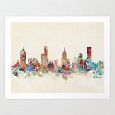 Melbourne Australia Art Print