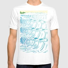 BIG WAVE SMALL White Mens Fitted Tee