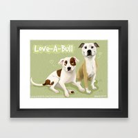 Love-A-Bull Pit Bull Framed Art Print