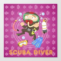 Scuba Dive Canvas Print