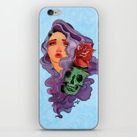 Skull Girl iPhone & iPod Skin