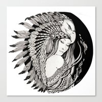 A Dream Of Feathers Canvas Print