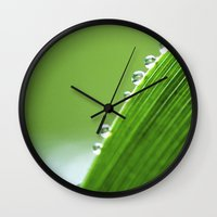 On The Edge Of Green - W… Wall Clock