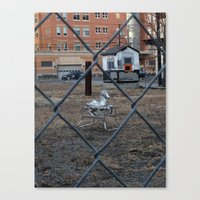 The Silver Hobby Horse 2 Canvas Print