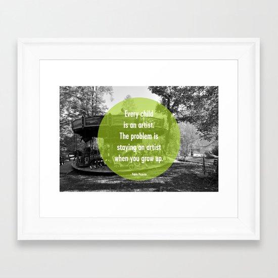 Every Child is an Artist Framed Art Print