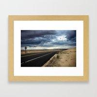 Road to Isolation Framed Art Print