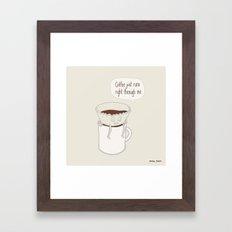 Coffee Runs Framed Art Print