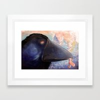 The Raven Who Steals You… Framed Art Print