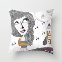 If we can put one man on the moon... why not them all? Throw Pillow