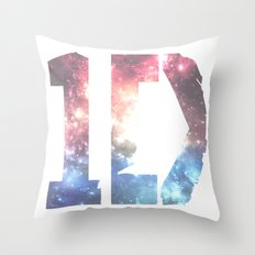 1D: Galaxy White Throw Pillow
