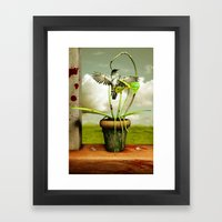 The Vampire Flower Framed Art Print