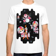 Space Rock Mens Fitted Tee White SMALL