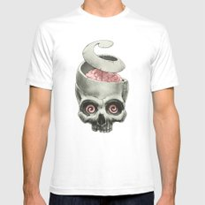 Open Your Mind! Mens Fitted Tee White SMALL