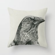 Throw Pillow featuring American Crow by Bonnie Johnson