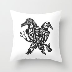 Blackbirds Singing Throw Pillow