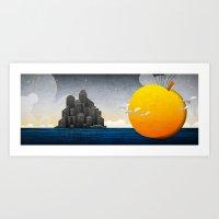 James & The Giant Peach Art Print