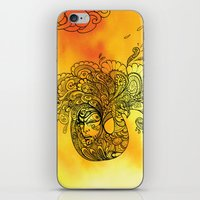 PEACOCKS CAN FLY iPhone & iPod Skin