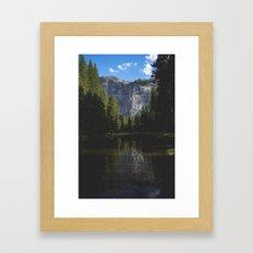 Yosemite National Park - Reflection of Mountains Framed Art Print