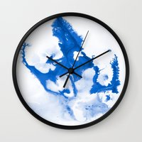 Paint 3 abstract modern art wall art for college dorm school trendy painting brushstrokes water wave Wall Clock