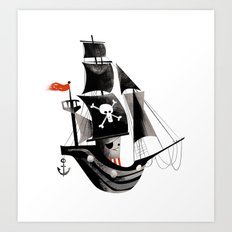 Pirate Ship Art Print