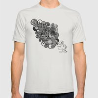 The Vomit Mens Fitted Tee Silver SMALL