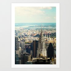 Vintage Colors. Chrysler Building, New York. Art Print