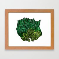 Leaf Head II Framed Art Print