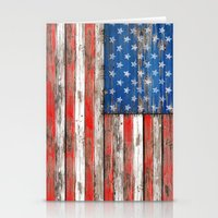USA Vintage Wood Stationery Cards