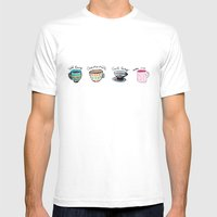 United States of Tea Mens Fitted Tee White SMALL