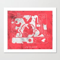 amor todo invencible Canvas Print