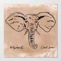 Deal James Elephant  Canvas Print
