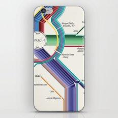 Itinéraires de train à grande vitesse de la France iPhone & iPod Skin