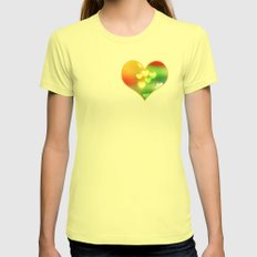 Love in Motion Womens Fitted Tee Lemon SMALL