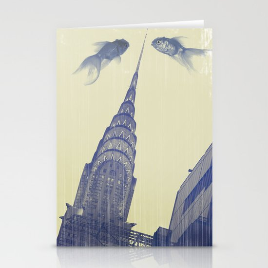 chrysler gold fish Stationery Card