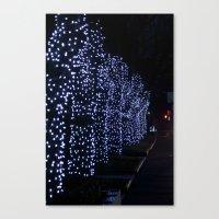 Christmas Blue Light Spe… Canvas Print