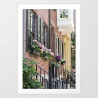 Beacon Hill Brownstones Art Print