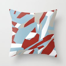 Hastings Zoom Red Throw Pillow
