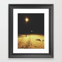 Into the dark side Framed Art Print