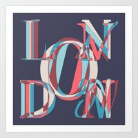 london Art Prints featuring London by Fimbis