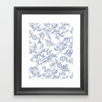 Toile Roses Framed Art Print