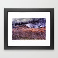 Up on the Mountain Framed Art Print