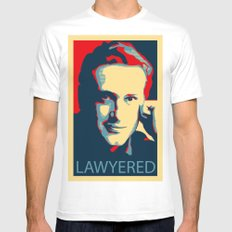 LAWYERED Mens Fitted Tee SMALL White