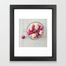 Cherries. Framed Art Print