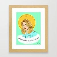 St. Norma Framed Art Print