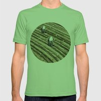 TERRITORIO VISUAL Mens Fitted Tee Grass SMALL