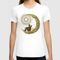 world T-shirts featuring Moon Travel by Eric Fan