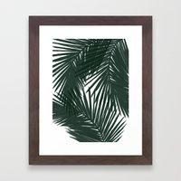 Palms Green Framed Art Print