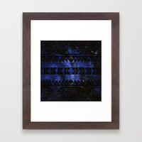 Blue Stellar Dust Framed Art Print